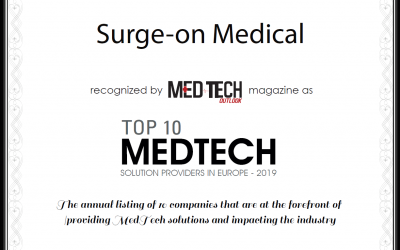 Surge-on Medical listed in Europe's Top 10 Medtech Providers 2019